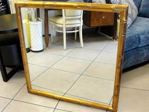 Bamboo Frame Mirror Worlds Away Bamboo Detail Frame