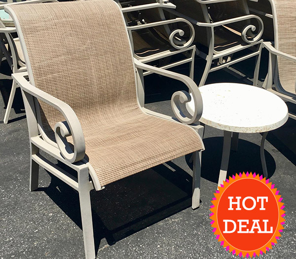Hotel Surplus Tropitone Patio Chairs Tan