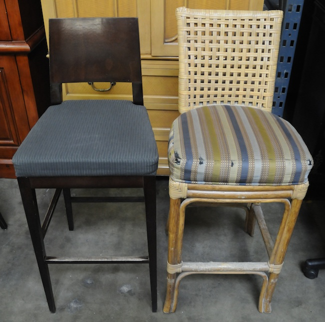Hotel surplus mixed bar stools